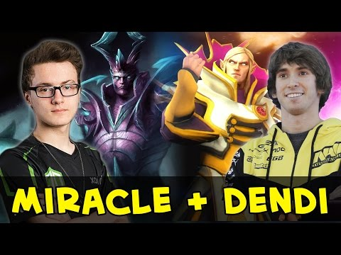 Miracle and Dendi in one team — Terrorblade + Invoker