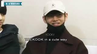 TAEKOOK in a cute way