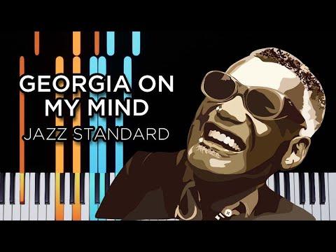 Georgia On My Mind (Jazz Standard) - Piano Tutorial