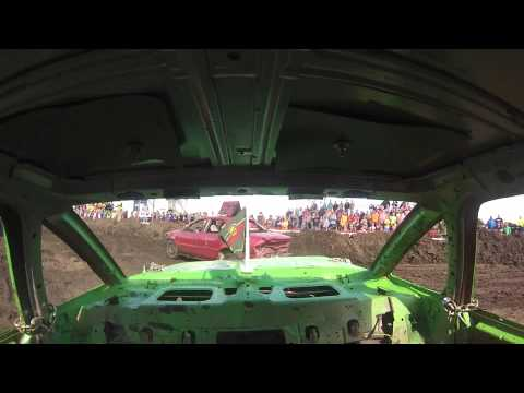 Steele County Fair, Owatonna, MN ~ Mid-Size Demo Derby August 23, 2015 GO-PRO REAR VIEW