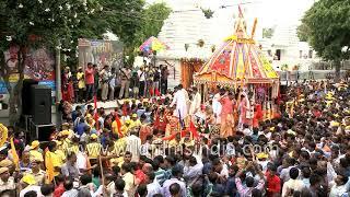 Odiya devotees pull Chariot of Lord Jagannath: Rath Yatra in Delhi