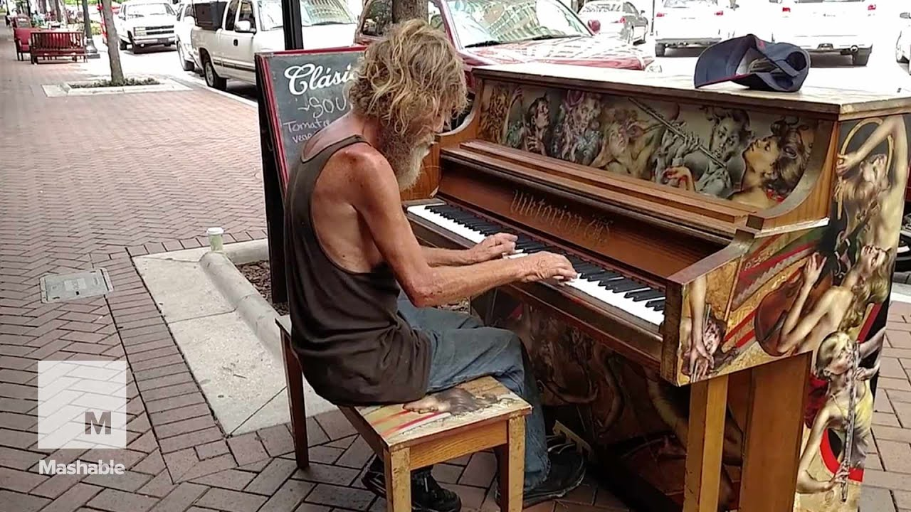 Newcastle Homeless Man Homeless Man Plays Street