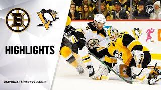NHL Highlights  Bruins  Penguins 011920