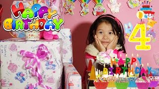 BÓC QUÀ SINH NHẬT - Dâu tây bóc quà sinh nhật và thổi nến sinh nhật