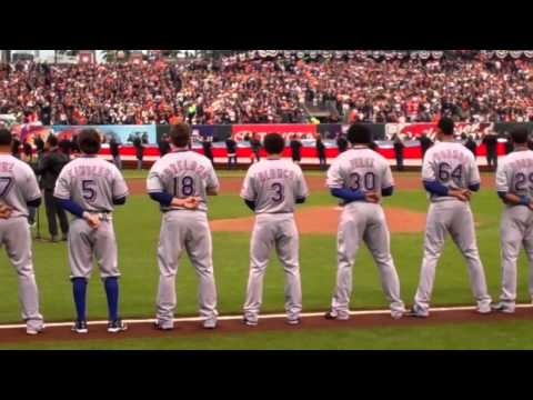 JL Sings The National Anthem For The MLB Game 1 World Series, San Francisco