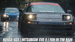 HONDA NSX | MITSUBISHI EVO IX [in the rain]