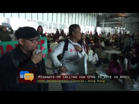 OFWs back Migrante party list and Casino for 2013 Polls