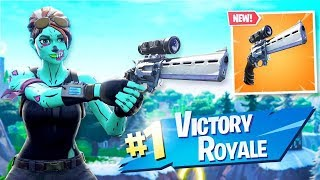 Fortnite new scoped revolver **IT IS BROKEN**