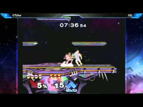 EVO 2013 SSBM QF - Hax (Captain Falcon) vs S2J (Captain Falcon)