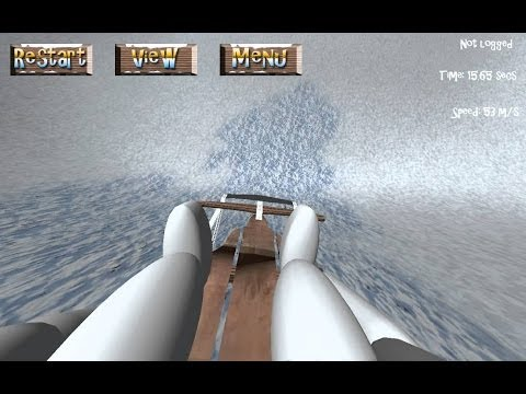 Обзор Extreme Luging 3D [Симулятор езды на санках ]