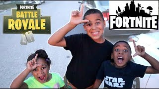 Fortnite Kid In Real Life Kids Pretend Play | FamousTubeKIDS