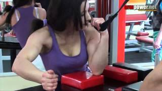 Training of armwrestling #55 - training with Diana Khalilova 2