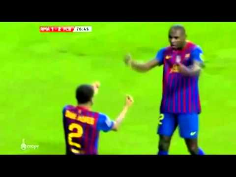 Fc Barcelone VS. Real Madrid Dani Alves and Eric Abidal danse new celibration