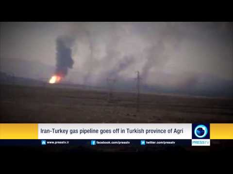 Iran Turkey gas pipeline goes off in Turkish province of Agri   YouTube