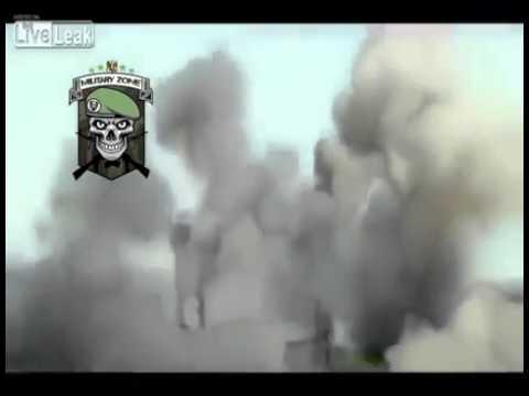 تطاير المسلحين في الهواء بانفجار احد مقراتهم بيبرود