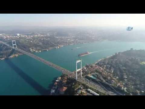 İstanbul'da ''Kış güneşi'' Manzaraları Havadan Görüntülendi