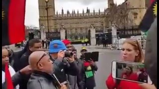 British MP Addresses Biafran Protesters in London