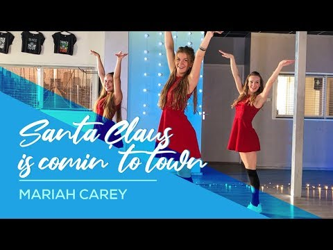 "Mariah Carey - Santa Claus is comin"" to Town - Easy Fitness Christmas Dance Video - Choreography"