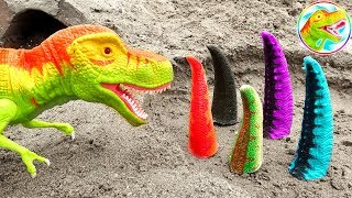 Assembling hilarious dinosaur and crocodile tails - B1290M ToyTV children's toys