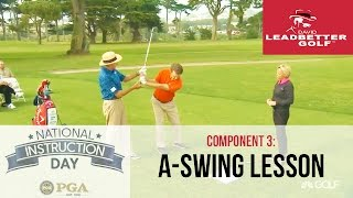 David Leadbetter teaches The A Swing to an amateur, National Instruction Day 2016