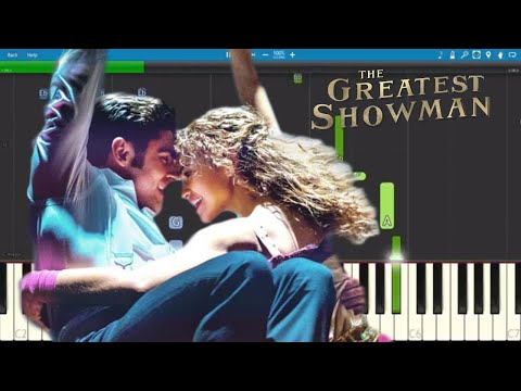 Rewrite The Stars Piano Tutorial - The Greatest Showman Soundtrack - Zac Efron & Zendaya