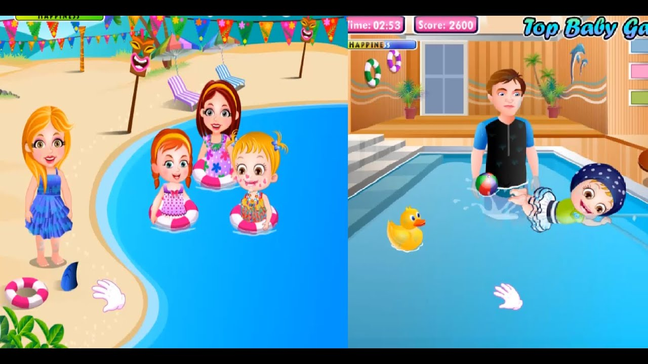 Baby hazel swimming compilation 2014 best cute baby games baby