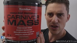 MuscleMeds Carnivor MASS Gainer Protein Powder Supplement Review - MassiveJoes.com Raw Review