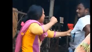 Husband vs Wife । WWE Crazy Street fight caught on camera