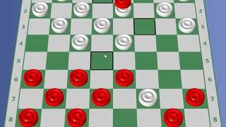 Jogo de Damas - Um lance forte na Abertura Cruz