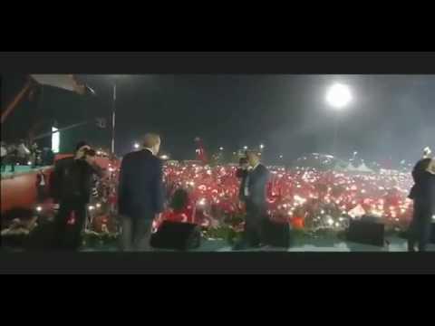 Yenikapı'da tarihi görüntü muhteşem ışık gösterisi