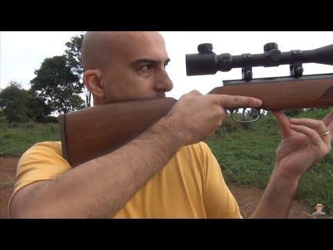 Como atirar com carabina de pressão
