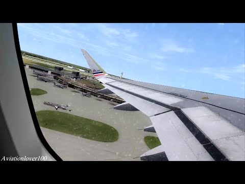 American Airlines A320NEO Takeoff Dallas Fort Worth - FSX AS REAL AS IT GETS
