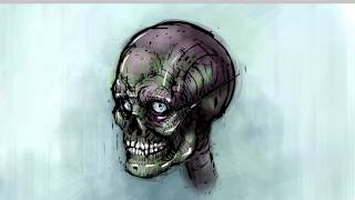 I Love Skulls Speed Painting