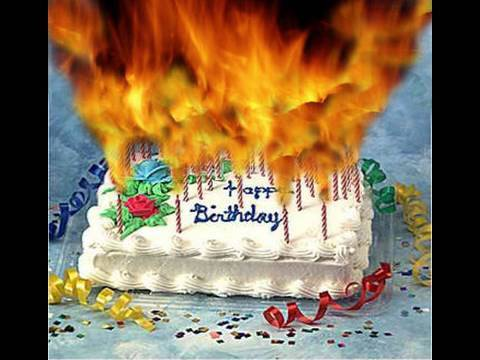 Images Birthday Cake On Fire : Birthday Cake On Fire