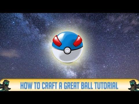 Minecraft PIXELMON: How to Make A Great Ball! (Pixelmon Mod) 2014
