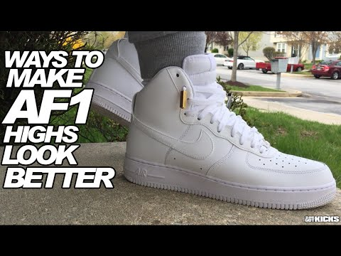Ways To Make Your Air Force 1 High's Look Much Better! - @slimeWISGFX [HD]