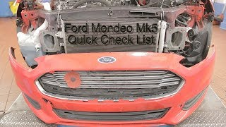 Ford Mondeo Mk5 Quick Check List