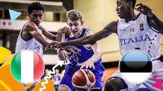 Italy v Estonia - Full Game - FIBA U16 European Championship 2018