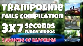 Trampoline fails compilation by 7 second of happiness FUNNY Video 😂 #349