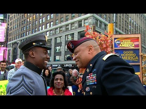 Soldier Surprises Dad Live on