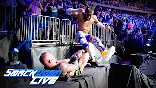 Kofi Kingston leg drops Randy Orton through a table: SmackDown LIVE, Sept. 3, 2019