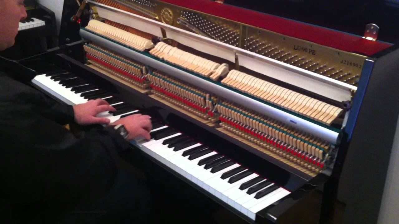 Yamaha lu90 pe upright piano demonstrated by sherwood for Yamaha u1 silent piano review