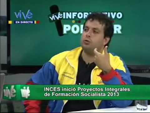 INCES inició proyectos integrales de formación socialista 2013