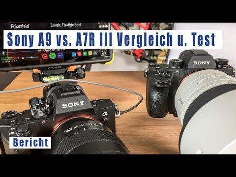 Sony A9 vs. A7R III Vergleich deutsch Alpha 9 vs. A7R3