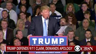 President Trump on muslim 911 celebrations he saw Immediately after the Twin Towers Fell