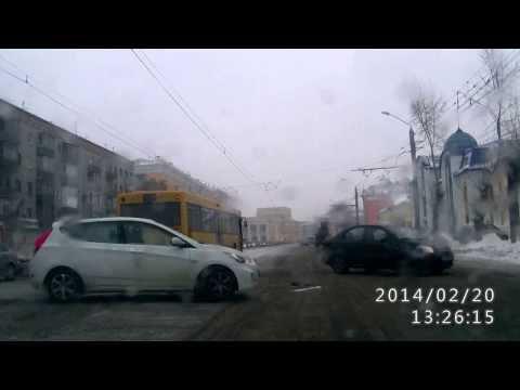 ДТП Барнаул Строителей Деповская 20.02.2014