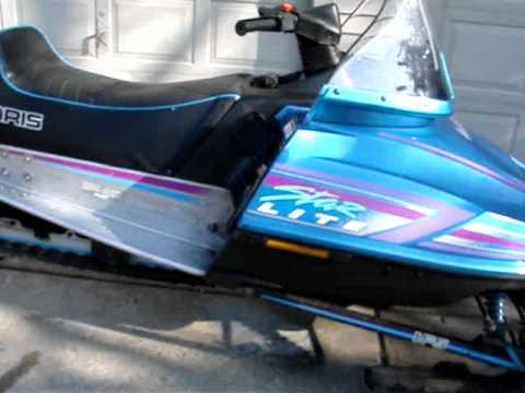 Polaris Rzr >> 1995 Polaris Star Lite 250cc Snowmobile Engine Run - YouTube