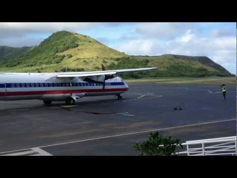 Aircraft Action at Robert Bradshaw International Airport, Saint Kitts, West Indies