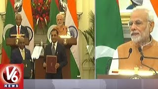 PM Modi Addressing At Joint Press Meet With Maldives President Ibrahim Solih