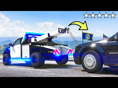 Download  I got in TROUBLE for towing Mr President's illegally parked car!! GTA 5 Mods Gameplay Gratis, download lagu terbaru